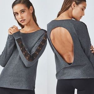 ⭐️Like New⭐️Fabletics Maura Gray Pullover